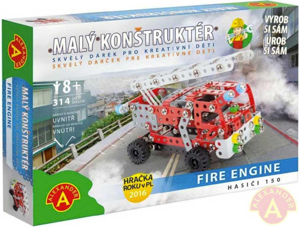 ALEXANDER Malý konstruktér Hasiči 150 konstrukční STAVEBNICE 314 dílků kov