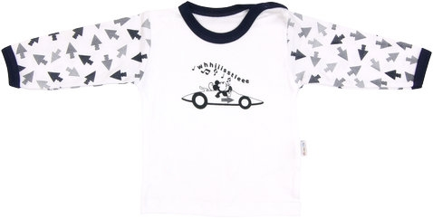 Bavlněné tričko Arrow - dlouhý rukáv, vel. 80 - 80 (9-12m)