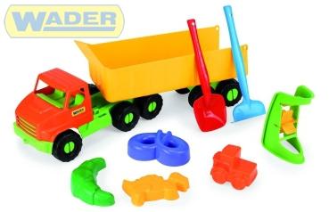 WADER Auto Truck s vlečkou 68 cm na písek 70380