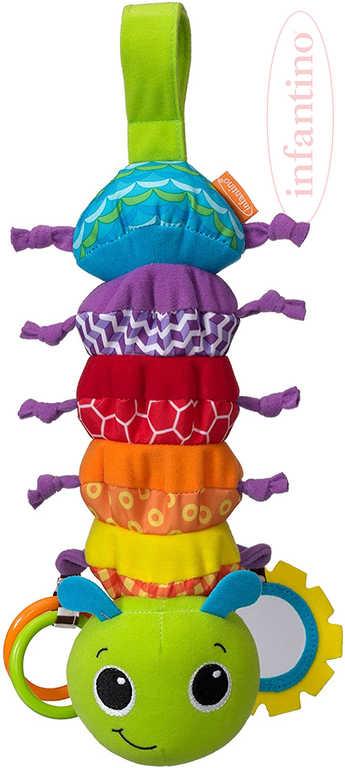 INFANTINO Baby housenka hudební textilní na natažení závěsná pro miminko