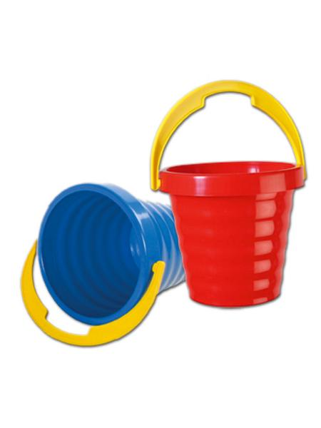 Plastový kyblíček - červený - červená