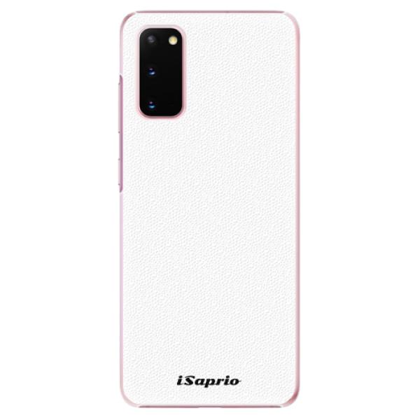 Plastové pouzdro iSaprio - 4Pure - bílý - Samsung Galaxy S20