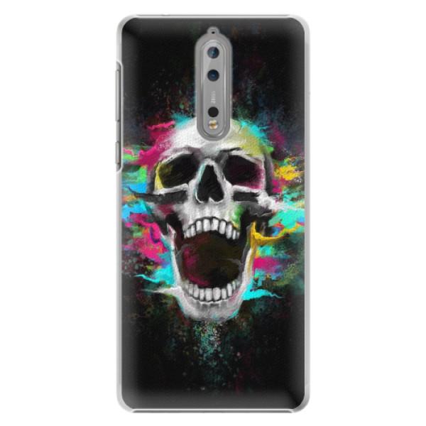 Plastové pouzdro iSaprio - Skull in Colors - Nokia 8