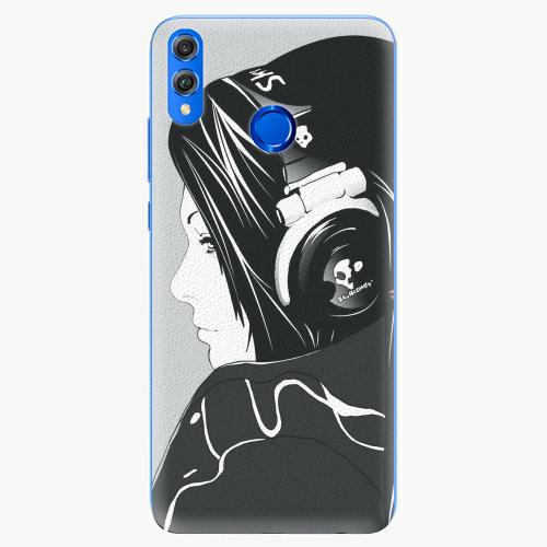 Silikonové pouzdro iSaprio - Headphones - Huawei Honor 8X