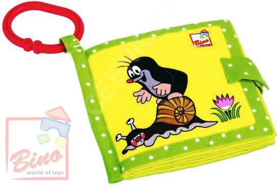 BINO Baby knížečka textilní Krtek (Krteček) obrázková závěsná