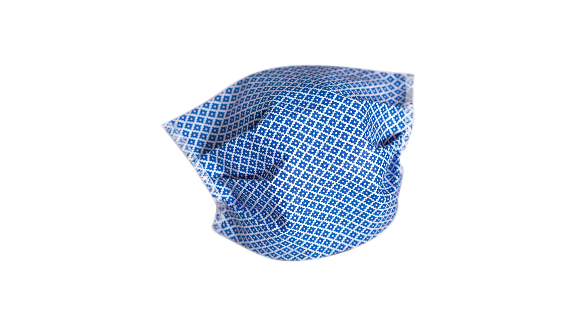 4CARS Dvouvrstvé ochranné bavlněné rouško modré s gumičkou 1ks - menší