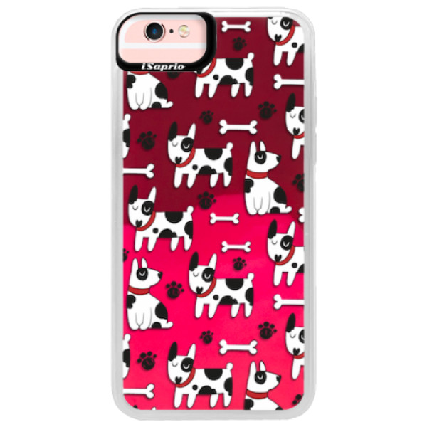 Neonové pouzdro Pink iSaprio - Dog 02 - iPhone 6/6S