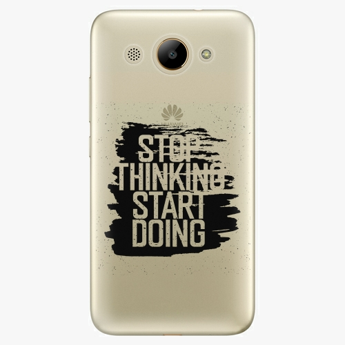 Plastový kryt iSaprio - Start Doing - black - Huawei Y3 2017