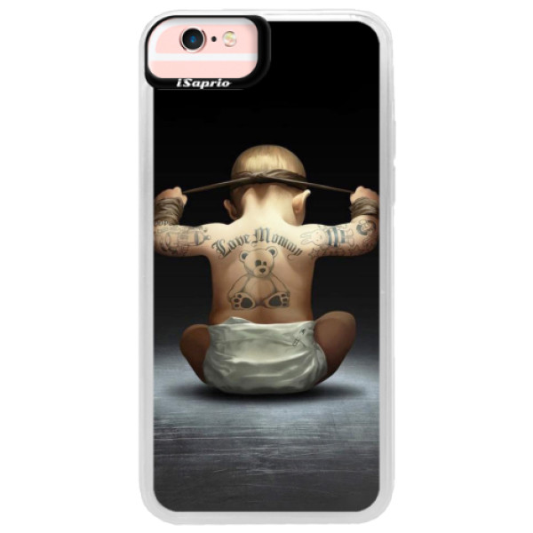Neonové pouzdro Pink iSaprio - Crazy Baby - iPhone 6/6S
