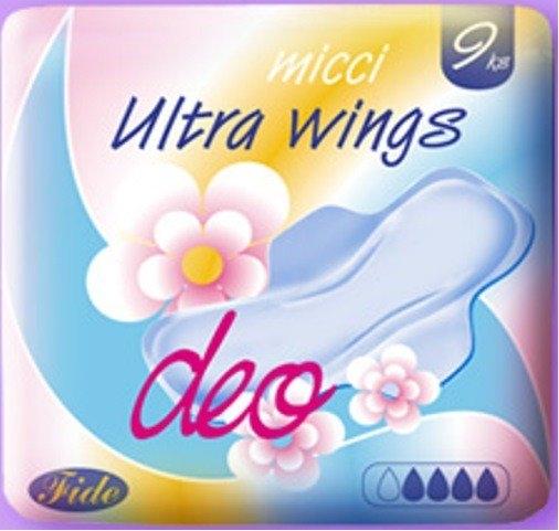 Ultra DEO wings dámské vložky 9 ks/bal.