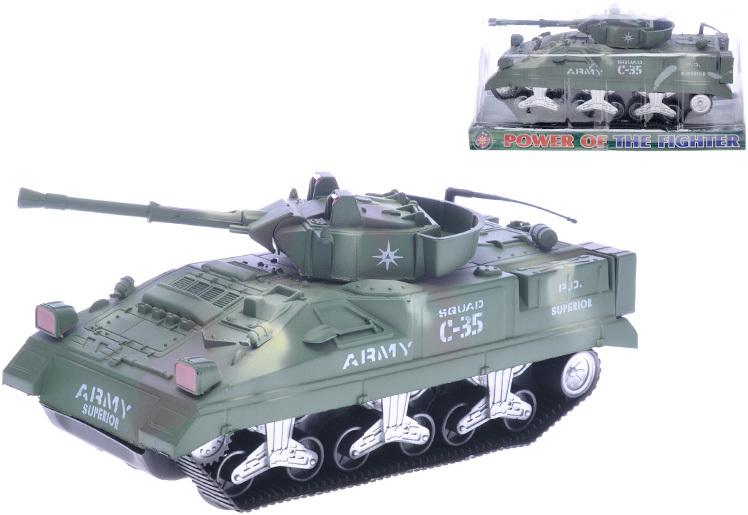 Tank 26cm na setrvačník plastový zelený v krabičce