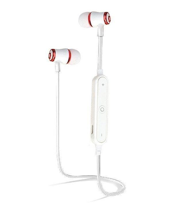 Mini bezdrátová sluchátka - Bílo-červená