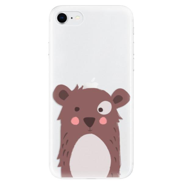 Odolné silikonové pouzdro iSaprio - Brown Bear - iPhone SE 2020
