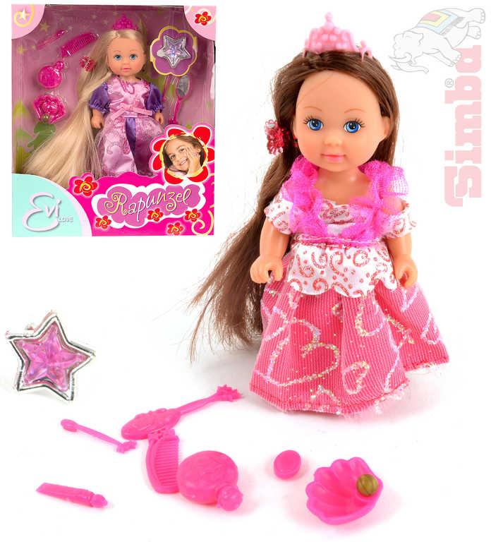 SIMBA Evička panenka extra dlouhé vlasy set s doplňky 3 druhy 12cm
