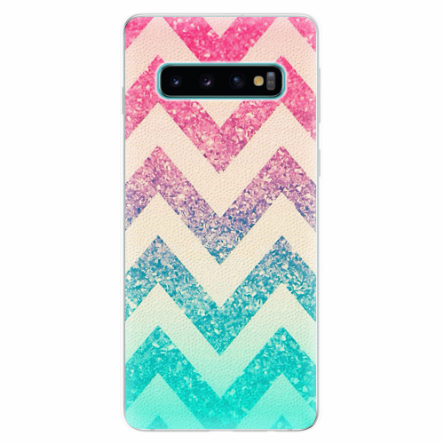 Silikonové pouzdro iSaprio - Zig-Zag - Samsung Galaxy S10
