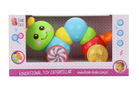 BAM BAM Edukativní hračka housenka