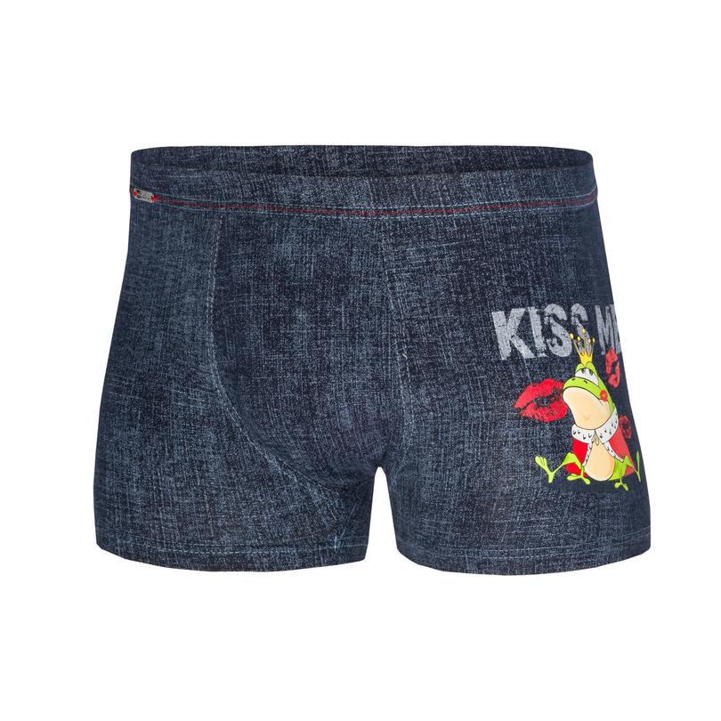 Pánské boxerky BW 010/56 KISS ME 2 - Jeans/XL