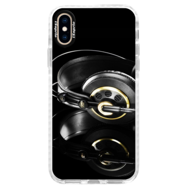 Silikonové pouzdro Bumper iSaprio - Headphones 02 - iPhone XS