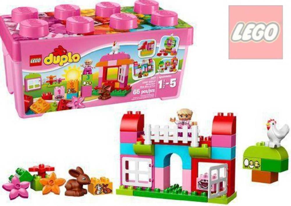 LEGO DUPLO Růžový box plný zábavy 10571 STAVEBNICE