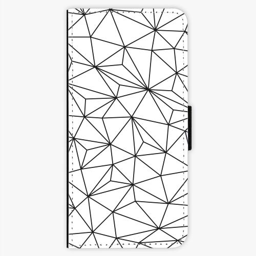 Flipové pouzdro iSaprio - Abstract Triangles 03 - black - Samsung Galaxy S8