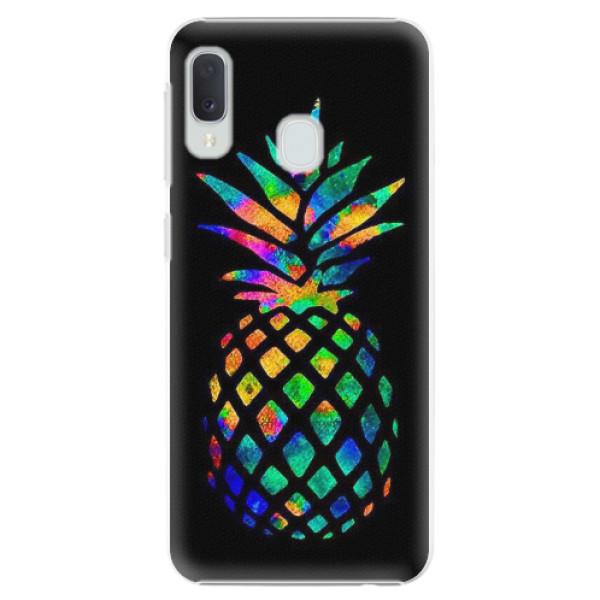 Plastové pouzdro iSaprio - Rainbow Pineapple - Samsung Galaxy A20e