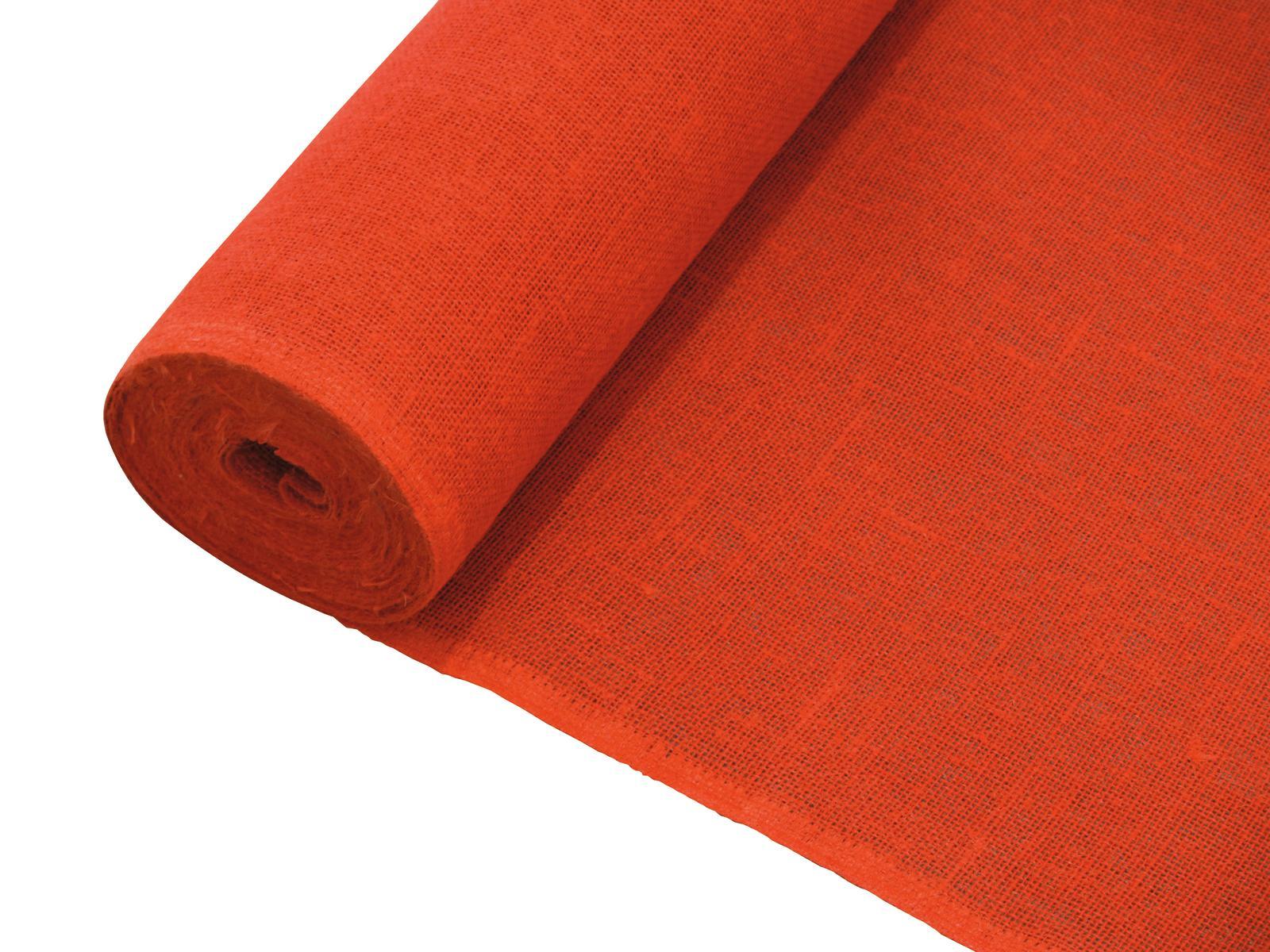 Dekorační tkanina červená, šíře 130cm, cena / m