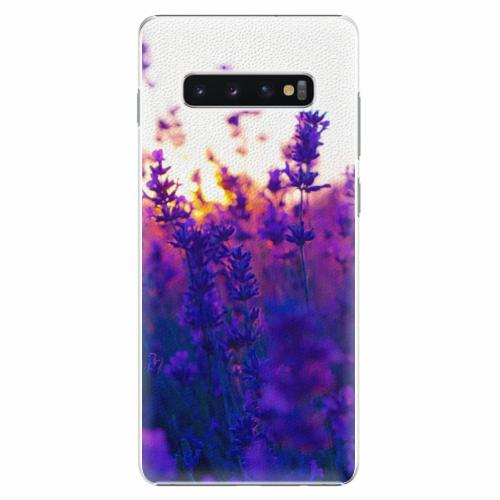 Plastový kryt iSaprio - Lavender Field - Samsung Galaxy S10+