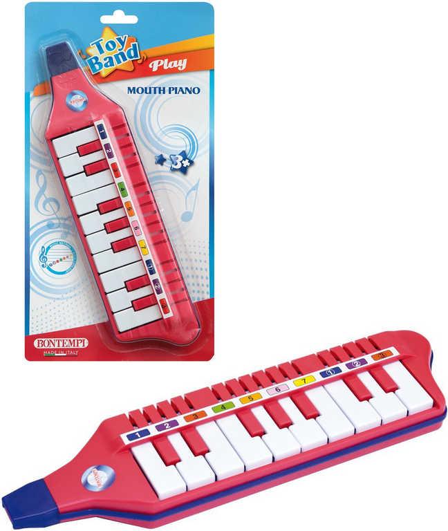 BONTEMPI Multipiano foukací dětská harmonika 10 kláves plast na kartě