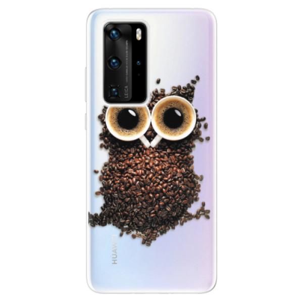 Odolné silikonové pouzdro iSaprio - Owl And Coffee - Huawei P40 Pro