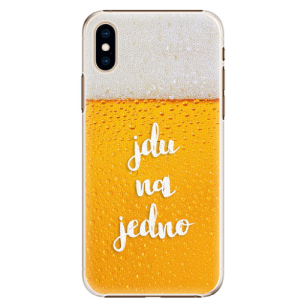 Plastové pouzdro iSaprio - Jdu na jedno - iPhone XS