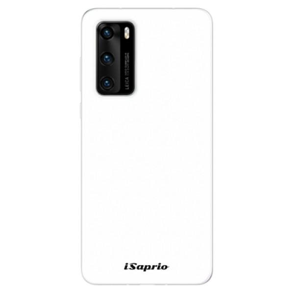 Odolné silikonové pouzdro iSaprio - 4Pure - bílý - Huawei P40