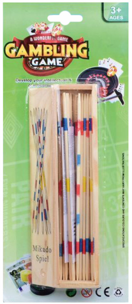 DŘEVO Hra mikádo dřevěná v krabička *SPOLEČENSKÉ HRY*