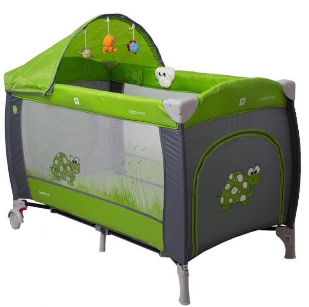 Coto Baby Cestovní postýlka Samba Lux 2020 - zelená