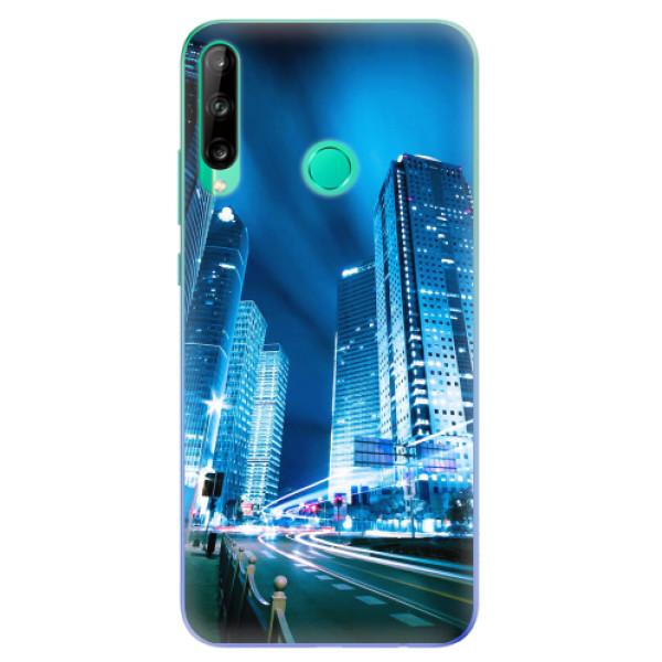 Odolné silikonové pouzdro iSaprio - Night City Blue - Huawei P40 Lite E