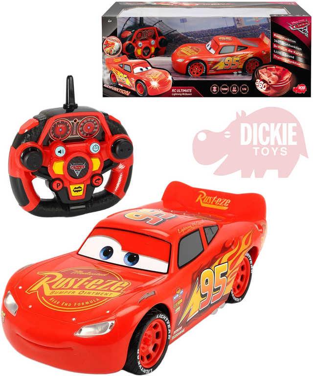 DICKIE RC Auto Cars 3 Blesk McQueen 2,4GHz dálkové ovládání na baterie Světlo Zvuk