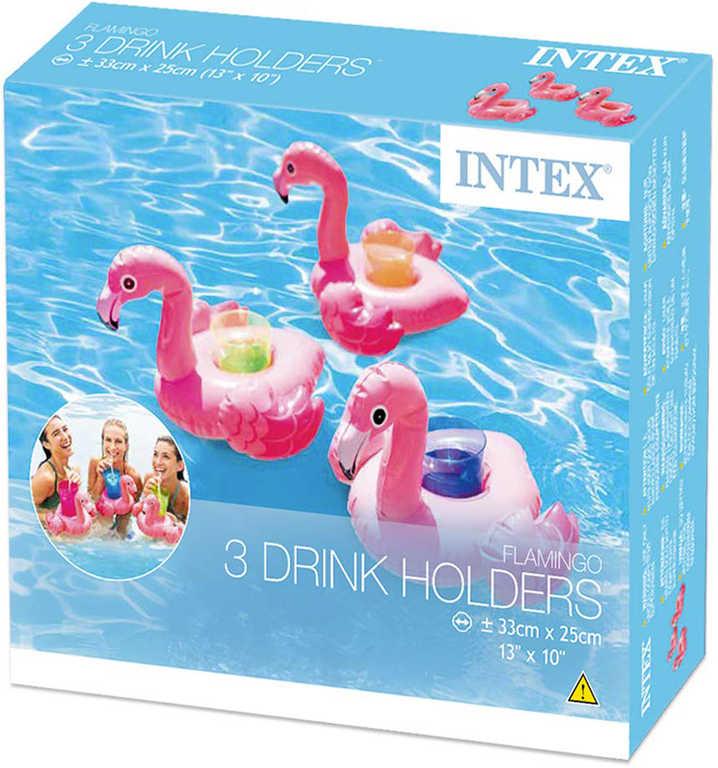 INTEX Nafukovací plovoucí držák nápojů Pelikán 33x25cm na vodu set 3ks 57500