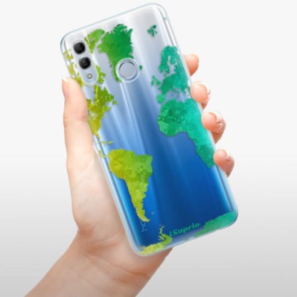 Odolné silikonové pouzdro iSaprio - Cold Map - Huawei Honor 10 Lite