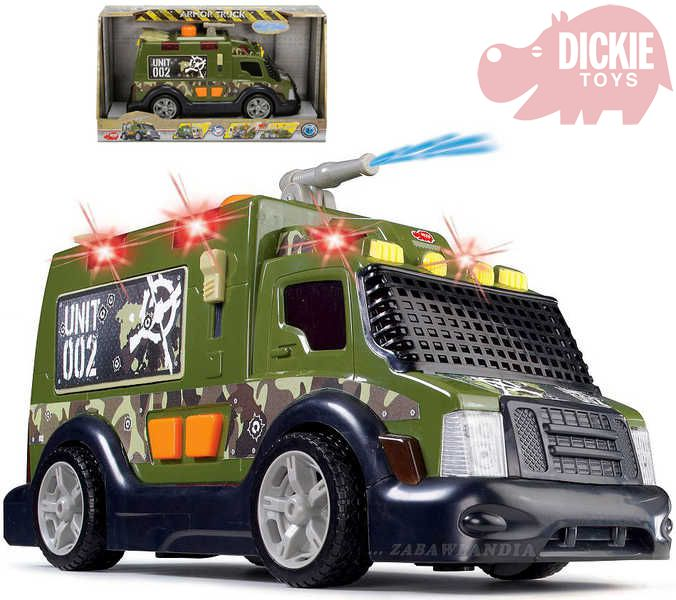 DICKIE Auto zásahové vojenské s vodním dělem 33 cm Světlo + Zvuk