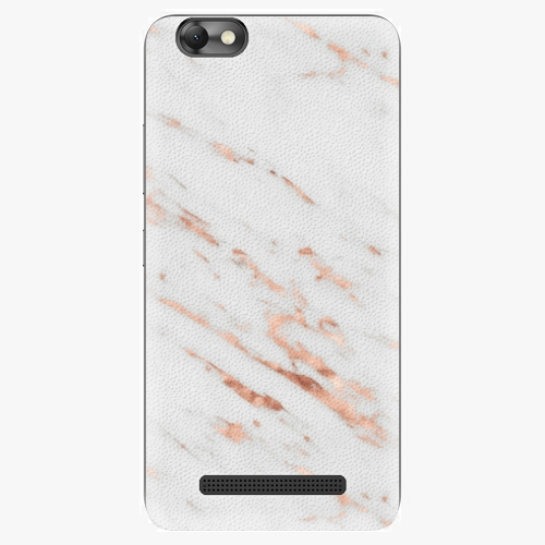 Plastový kryt iSaprio - Rose Gold Marble - Lenovo Vibe C