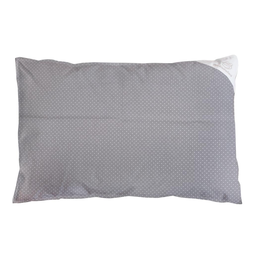 Povlak na polštář šedý s puntíky - 60x40cm - šedá