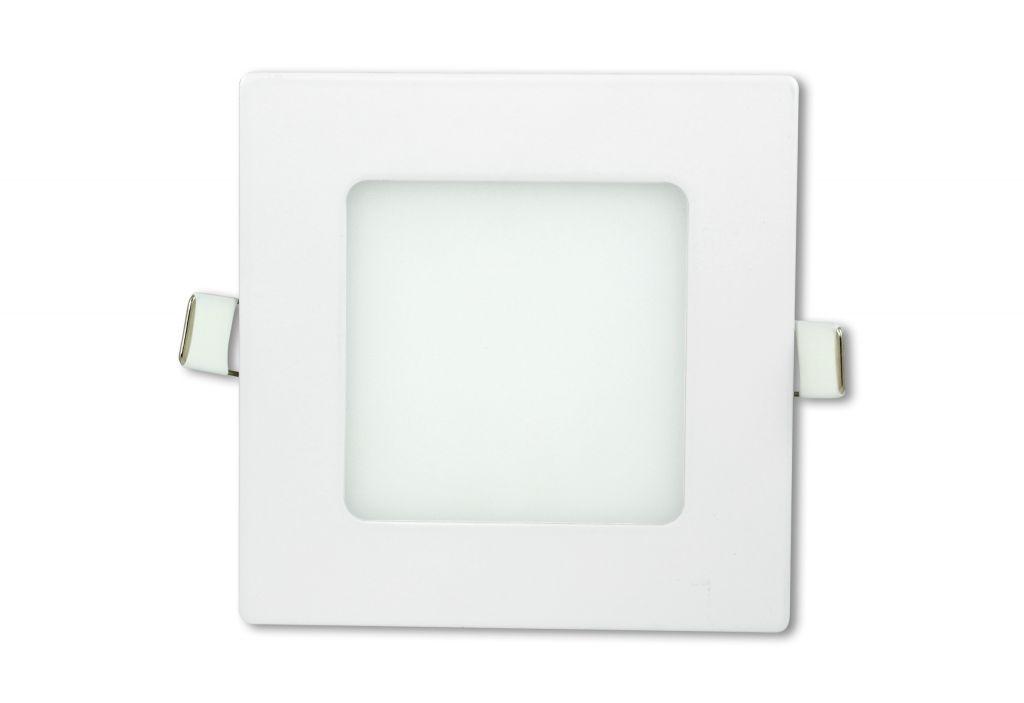 LED stropní panel čtvercový 6 W, teple bílá