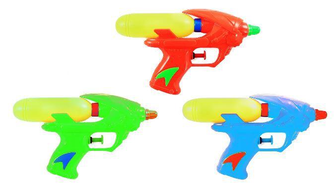 Dětská plastová vodní pistole se zásobníkem na vodu 2 barvy plast