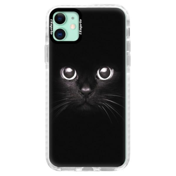 Silikonové pouzdro Bumper iSaprio - Black Cat - iPhone 11