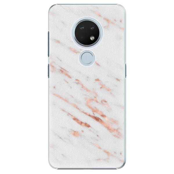 Plastové pouzdro iSaprio - Rose Gold Marble - Nokia 6.2