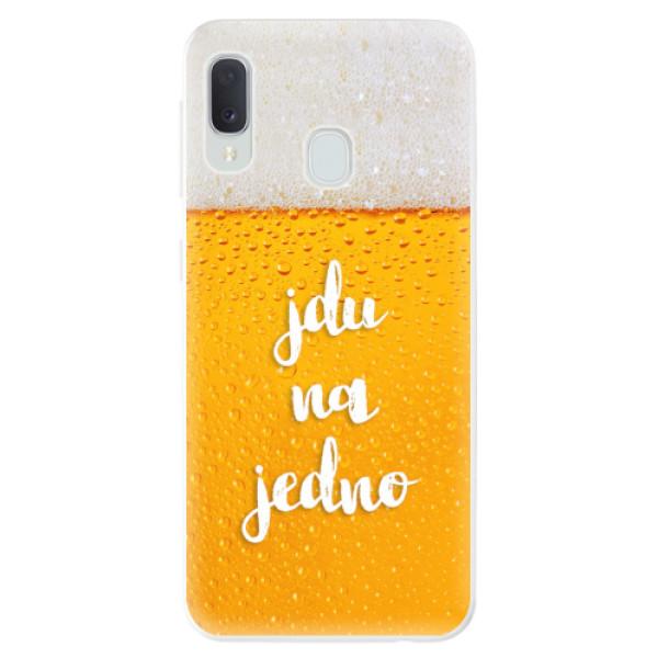Odolné silikonové pouzdro iSaprio - Jdu na jedno - Samsung Galaxy A20e