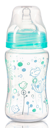 BabyOno Antikoliková lahvička se širokým hrdlem Baby Ono - tyrkysová