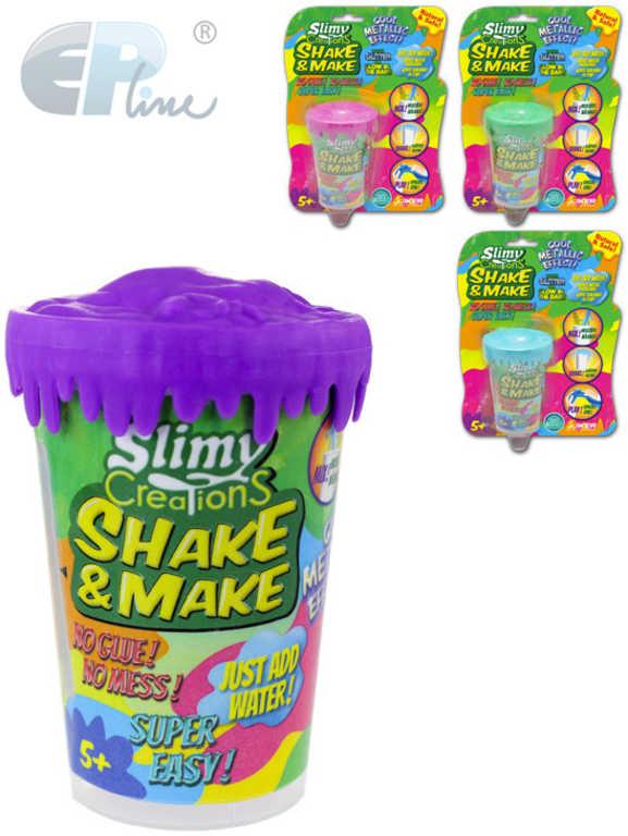 EP Line Slimy Shake and make vyrob si sliz metalický 80 g v kelímku - 4 barvy