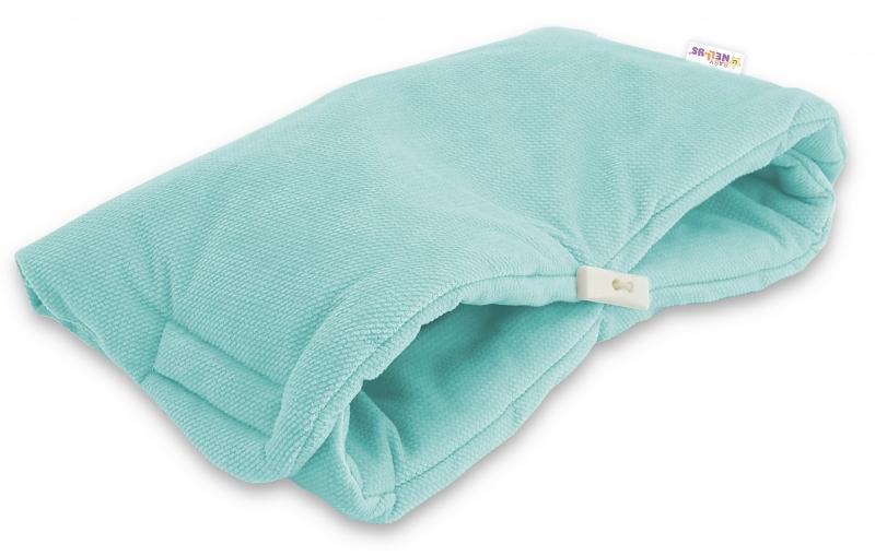 Luxusní rukávník Velvet Baby Nellys, 40 x 20cm - mátová, zelená