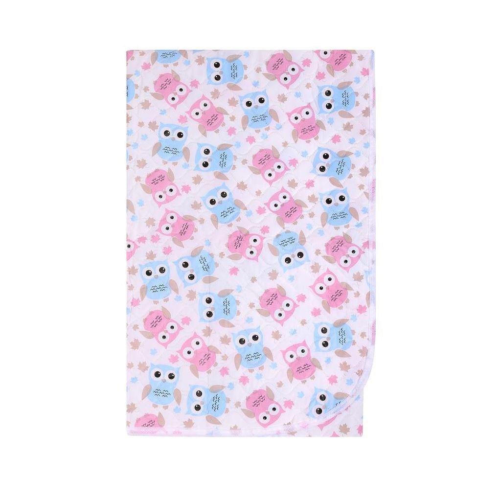 Přebalovací podložka Akuku 55x70 sovy růžovo-modré - bílá