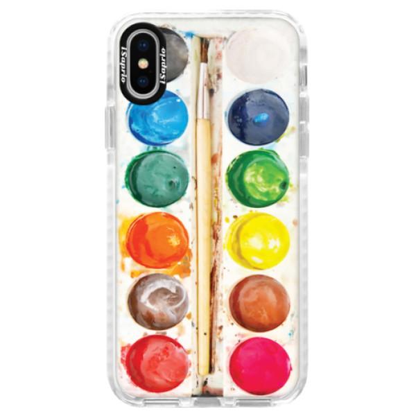 Silikonové pouzdro Bumper iSaprio - Watercolors - iPhone X